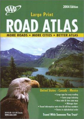 AAA Large Print Road Atlas 2004 9781562513856