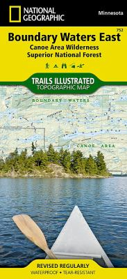 Boundary Waters - East, Superior National Forest: Trails Illustrated - Recreation Maps 9781566955027