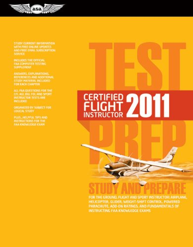 Test Prep Certified Flight Instructor: Study and Prepare for the Ground, Flight, Military Competency and Sport Instructor: Airplane, Helicopter, Glide 9781560277675
