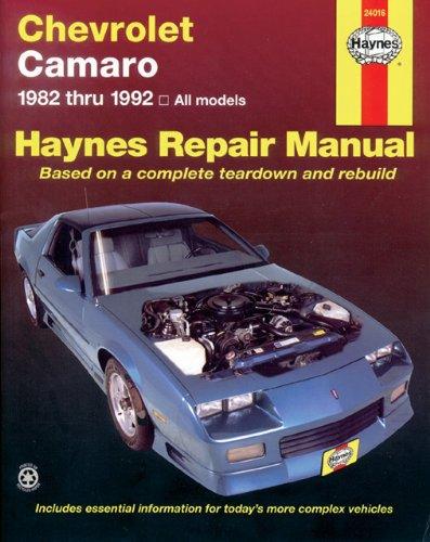 Chevrolet Camaro, 1982-1992 9781563920608