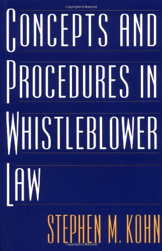 Concepts and Procedures in Whistleblower Law 9781567203547