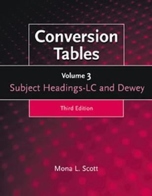 Conversion Tables: Set of 3 Volumes) 9781563085963