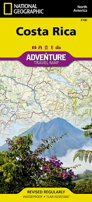 Costa Rica Adventure Travel Map 9781566953146