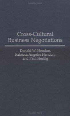 Cross-Cultural Business Negotiations 9781567200645