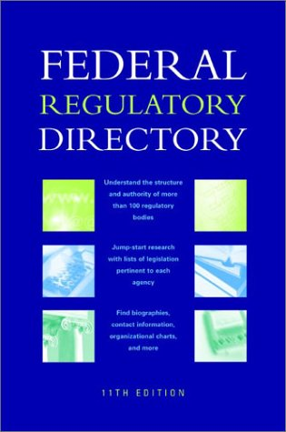 Federal Regulatory Directory 9781568028125