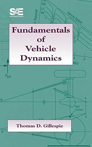 Fundamentals of Vehicle Dynamics 9781560911999