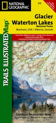 Glacier/Waterton Lakes National Parks, Montana, USA/Alberta, Canada: Outdoor Recreational Map 9781566953184
