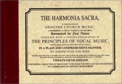 Harmonia Sacra 9781561481040
