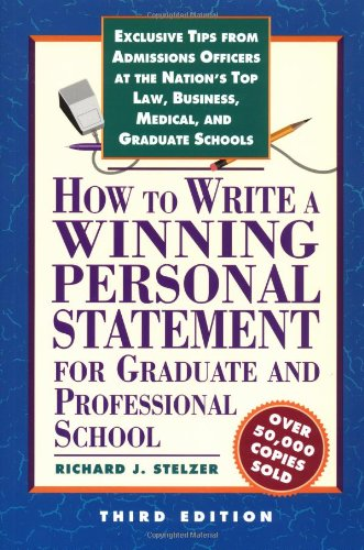 How to Write a Winning Pers Stmnt 3rd Ed 9781560798552