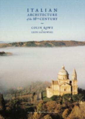 Italian Architecture of the 16th Century 9781568983318
