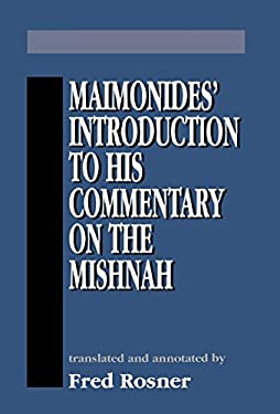 Maimonides Introduction to His 9781568212418