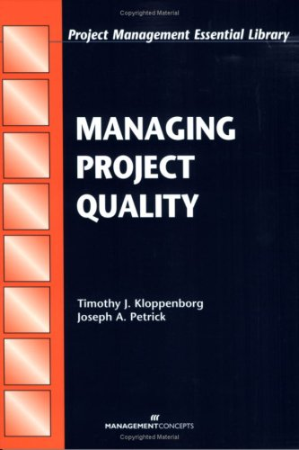 Managing Project Quality 9781567261417