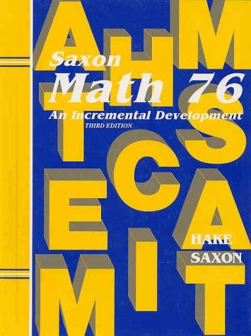 Math 76: An Incremental Development 9781565771536