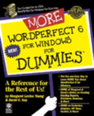 More WordPerfect 6 for Windows for Dummies 9781568842066