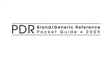 PDR Brand/Generic Reference Pocket Guide 9781563637209