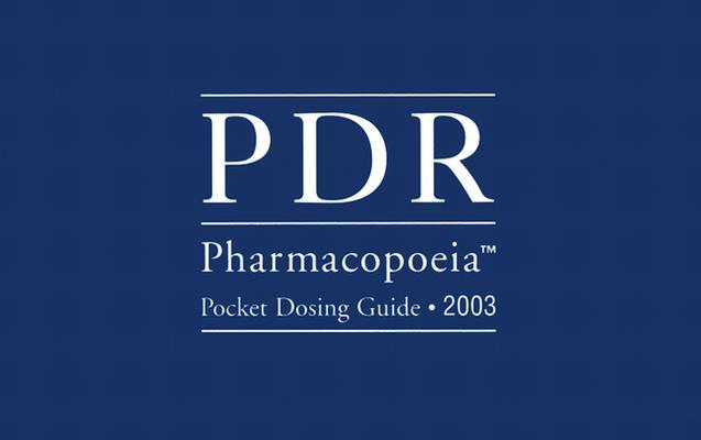 PDR Pharmacopoeia Pocket Dosing Guide 9781563634437