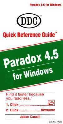 Paradox 4.5 for Windows 9781562431228
