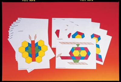 Pattern Cards for Pattern Blocks Set Activity Cards 9781564514189