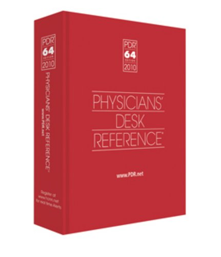 Physicians' Desk Reference 2010 ( Library/Hospital Version) 9781563637483