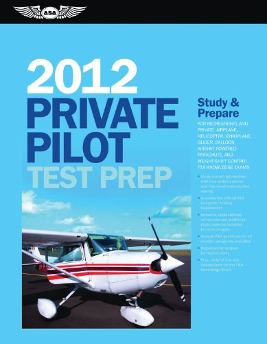 Private Pilot Test Prep: Study and Prepare for Recreational and Private: Airplane, Helicopter, Gyroplane, Glider, Balloon, Airship, Powered Par [With 9781560278504
