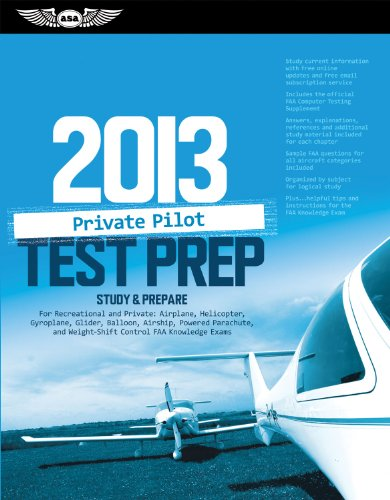 Private Pilot Test Prep 2013: Study & Prepare for Recreational and Private: Airplane, Helicopter, Gyroplane, Glider, Balloon, Airship, Powered Parac 9781560279112