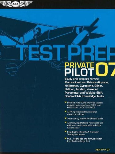 Private Pilot Test Prep: Study and Prepare for the Recreational and Private Airplane, Helicopter, Gyroplane, Glider, Balloon, Airship, Powered  [With 9781560275947