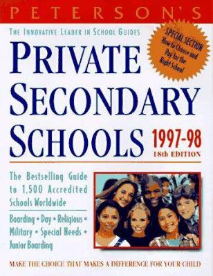 Private Secondary Schools, 1997-98 9781560797029