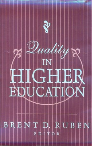 Quality in Higher Education 9781560001904