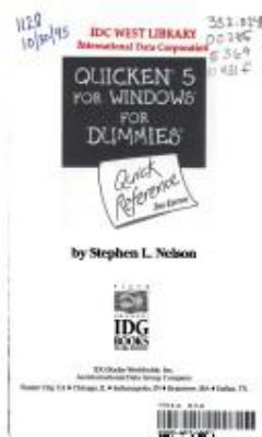 Quicken 5 for Windows for Dummies Quick Reference 9781568849638