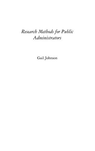 Research Methods for Public Administrators 9781567204490