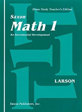 Saxon Math 1 Homeschool: Teacher Edition 2001 9781565770140