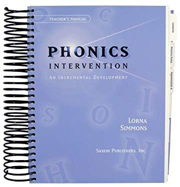 Saxon Phonics Intervention: Teacher's Edition 2000