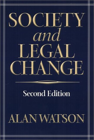 Society and Legal Change 9781566399197
