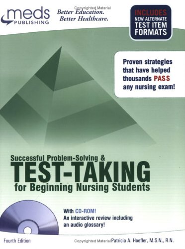 Successful Problem-Solving and Test-Taking for Beginning Nursing Students (Book ) [With CDROM] 9781565335004