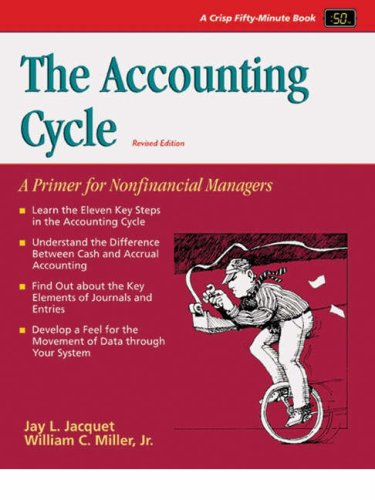 The Accounting Cycle (Revised) 9781560526674