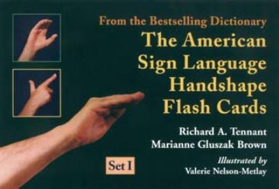 The American Sign Language Handshape Flash Cards Set I 9781563681240