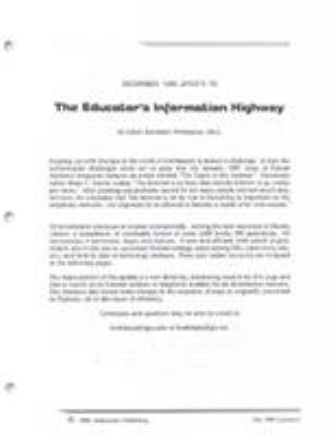 The Educator's Information Highway 9781566763301