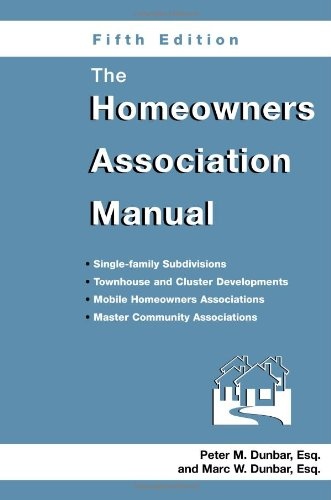 The Homeowners Association Manual 9781561643134
