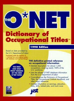 The O*NET Dictionary of Occupational Titles 9781563705106