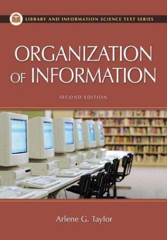 Organization of Information - 2nd Edition