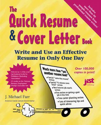 Quick Resume And Cover Letter Book  th Ed The Quick Resume Cover Letter Book   th Edition
