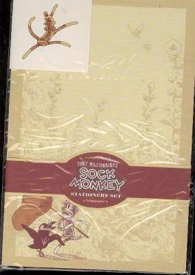 Tony Millionaire's Sock Monkey Stationery Set [With Sticker(s) and 6 Envelopes]