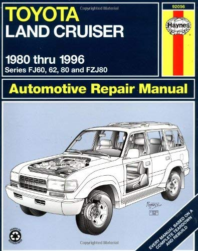 Toyota Landcruiser Series Fj60, 62, 80 and Fzj80, 1980-1996