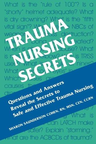 Trauma Nursing Secrets 9781560535188