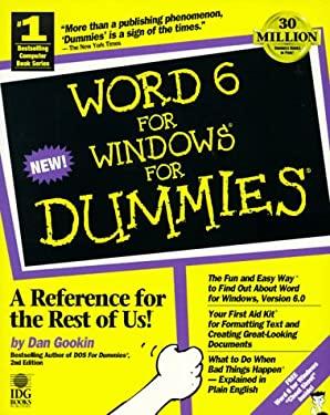 Word 6 F/Windows for Dummies 9781568840758