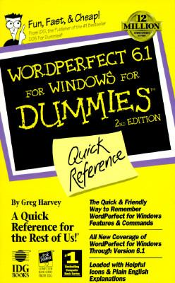 WordPerfect 6.1 for Windows for Dummies: Quick Reference 9781568849669