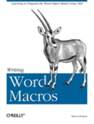 Writing Word Macros - 2nd Edition
