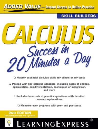Calculus Success in 20 Minutes a Day 9781576858899