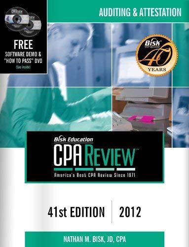 Bisk Comprehensive CPA Review: Auditing & Attestation 9781579618766