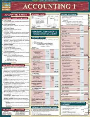 Accounting 1 Laminate Reference Chart 9781572225121